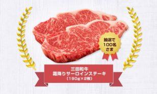 三田和牛サーロインステーキ キャンペーン